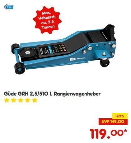 Güde GRH 2,5/510 L Rangierwagenheber - jetzt 8% billiger