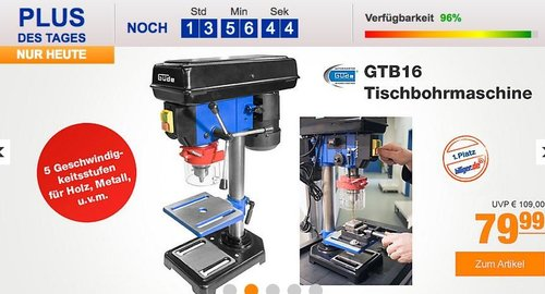 Güde GTB16 Tischbohrmaschine - jetzt 20% billiger