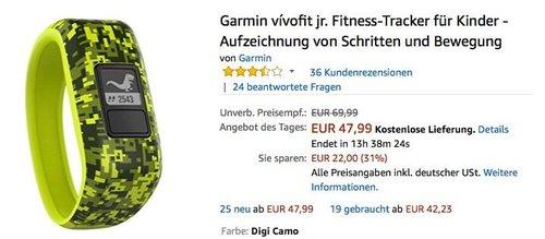 Garmin vívofit jr. Fitness-Tracker für Kinder - jetzt 17% billiger
