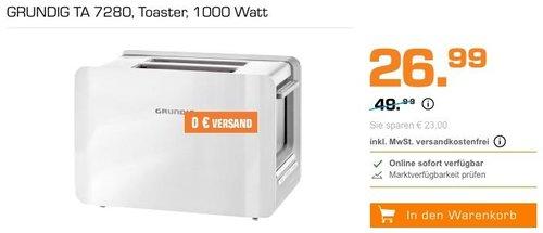 GRUNDIG TA 7280 Toaster in Weiß - jetzt 32% billiger