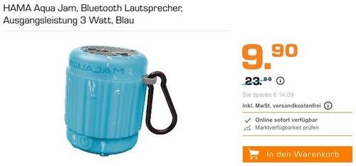HAMA Aqua Jam Bluetooth Lautsprecher 3 Watt - jetzt 55% billiger