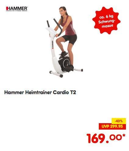 Hammer Heimtrainer Cardio T2 - jetzt 9% billiger