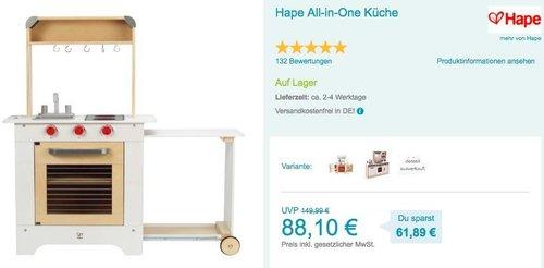 Hape All-in-One Spielküche - jetzt 10% billiger