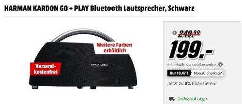 HARMAN KARDON GO + PLAY Bluetooth Lautsprecher in Schwarz oder Weiß - jetzt 17% billiger