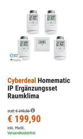 Homematic IP Ergänzungsset Raumklima, 4x Heizkörperthermostat und 1x Wandthermostat - jetzt 10% billiger