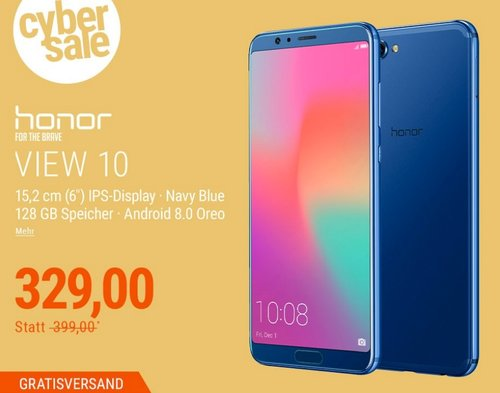 Honor View 10 Dual-SIM Android 8.0 Smartphone in Navy/Blue - jetzt 9% billiger