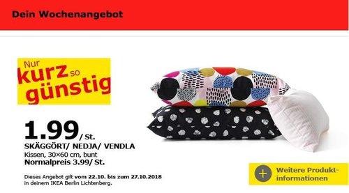 IKEA Berlin-Lichtenberg - SKÄGGÖRT/ NEDJA/ VENDLA Kissen - jetzt 50% billiger