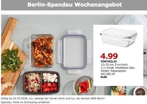 IKEA Berlin-Spandau - FÖRTROLIG Dose mit Deckel, 32x35 cm, 9 cm hoch - jetzt 50% billiger