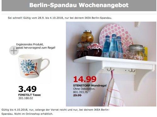 Ikea Berlin Spandau Stenstorp Wandregal Fur 14 99 50