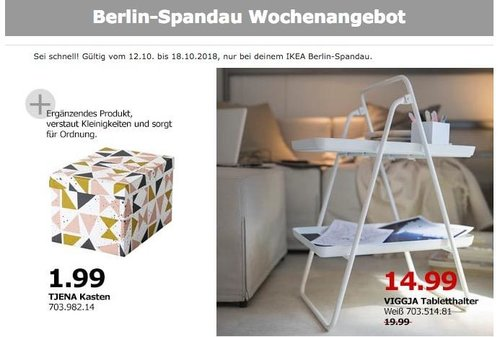 Ikea Berlin Spandau Viggja Tabletthalter Für 1499 25