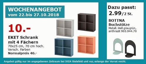 IKEA Bielefeld - EKET Schrank mit 4 Fächern - jetzt 75% billiger