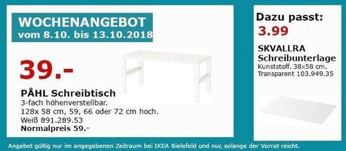 IKEA Bielefeld - PAHL Schreibtisch - jetzt 34% billiger