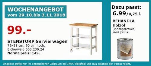 IKEA Bielefeld - STENSTORP Servierwagen - jetzt 34% billiger