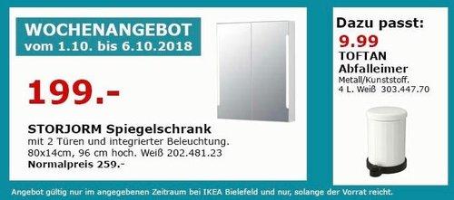 IKEA Bielefeld - STORJORM Spiegelschrank - jetzt 23% billiger