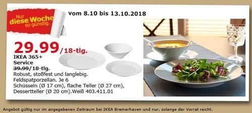 IKEA Bremerhaven - 365+ Service / 18-tlg. - jetzt 25% billiger