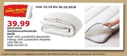 IKEA Bremerhaven - RÖDTOPPA Vierjahreszeitendecke - jetzt 33% billiger