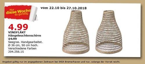 IKEA Bremerhaven - VINDFLÄKT Hängeleuchtenschirm - jetzt 67% billiger
