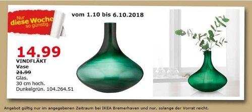 IKEA Bremerhaven - VINDFLÄKT Vase - jetzt 32% billiger