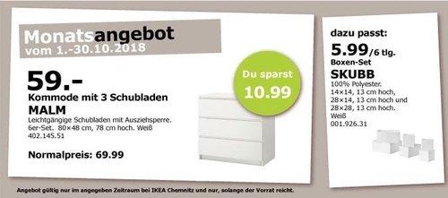 IKEA Chemnitz - MAILM Kommode mit 3 Schubladen - jetzt 16% billiger