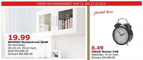 IKEA Düsseldorf - BRIMNES Wandschrank mit Vitrinentür - jetzt 33% billiger