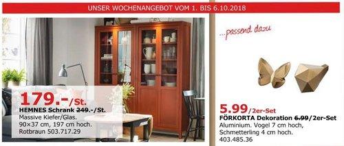IKEA Düsseldorf - HEMNES Schrank, 90x37 cm, 197 cm hoch, rotbraun - jetzt 28% billiger