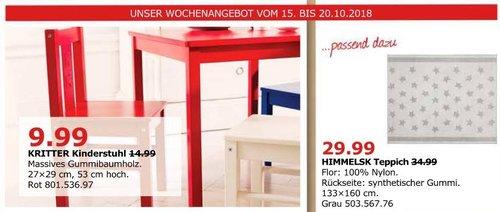 IKEA Düsseldorf - KRITTER Kinderstuhl, rot - jetzt 33% billiger