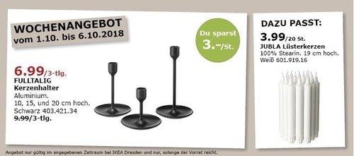 IKEA Dresden - FULLTALIG Kerzenhalter 3-tlg - jetzt 30% billiger