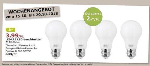 IKEA Dresden - LEDARE LED-Leuchtmittel - jetzt 33% billiger
