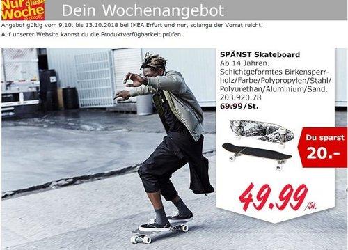 IKEA Erfurt - SPÄNST Skateboard - jetzt 29% billiger
