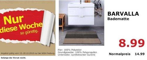 IKEA Freiburg - BARVALLA Badematte - jetzt 40% billiger