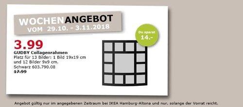 IKEA Hamburg-Altona - GUDBY Collagenrahmen für 13 Bilder - jetzt 78% billiger