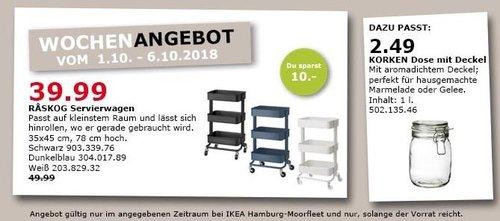 IKEA Hamburg-Moorfleet - RASKOG Servierwagen - jetzt 20% billiger