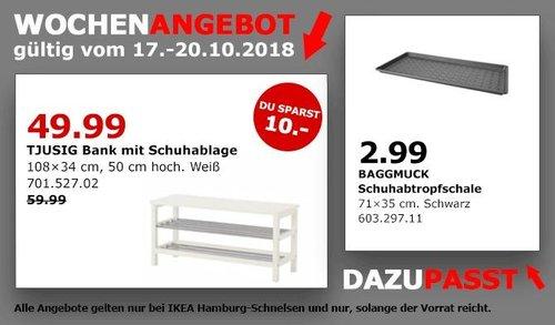 IKEA Hamburg-Schnelsen - TJUSIG Bank mit Schuhablage - jetzt 17% billiger