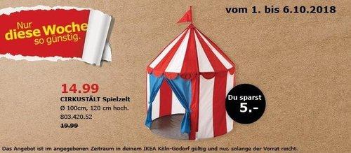 IKEA Köln-Godorf - CIRKUSTÄLT Spilezelt - jetzt 25% billiger