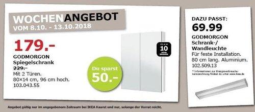 IKEA Kaarst - GODMORGON Spiegelschrank - jetzt 22% billiger
