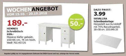 IKEA Kaarst - HEMNES Schreibtisch - jetzt 21% billiger