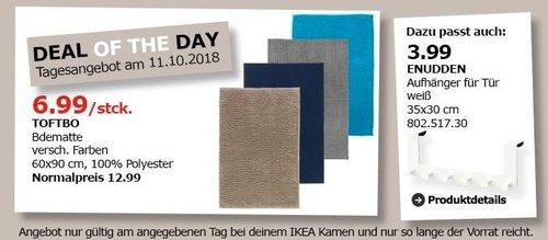 IKEA Kamen - TOFTBO Bodematte - jetzt 46% billiger