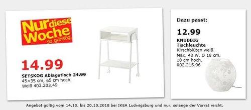 IKEA Ludwigsburg - SETSKOG Ablagetisch - jetzt 40% billiger