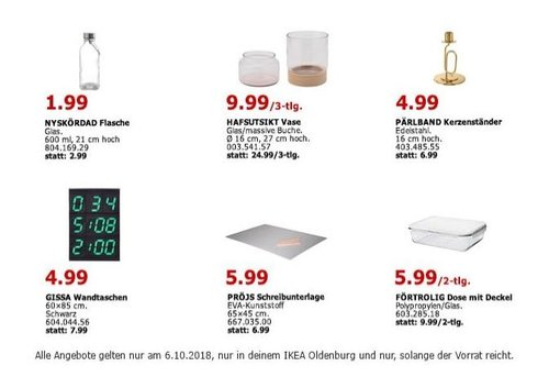 IKEA Oldenburg - HAFSUTSIKT Vase, 3-tlg. - jetzt 60% billiger