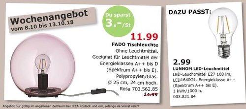 IKEA Rostock - FADO Tischleuchte - jetzt 20% billiger