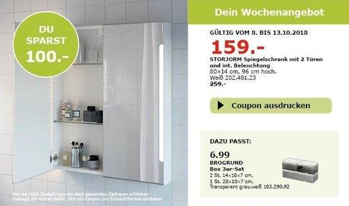 IKEA Sindelfingen -  STORJORM Spiegelschrank - jetzt 39% billiger
