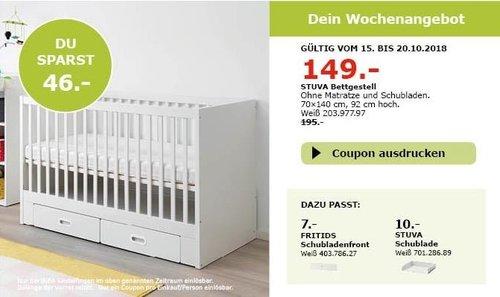 IKEA Sindelfingen - STUVA Bettgestell - jetzt 24% billiger