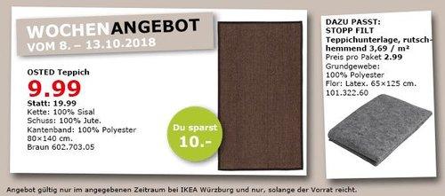 IKEA Würzburg - OSTED Teppich - jetzt 50% billiger