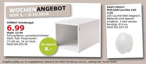 IKEA Würzburg - SPÄNST Schuhregal - jetzt 53% billiger