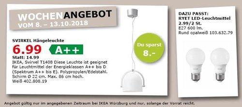 IKEA Würzburg - SVIRKEL Hängeleuchte - jetzt 53% billiger