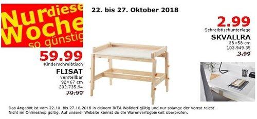 IKEA Walldorf - FLISAT Kinderschreibtisch - jetzt 25% billiger