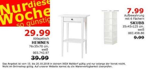 IKEA Walldorf - HEMNES Ablagetisch - jetzt 25% billiger