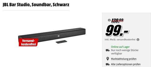 JBL Bar Studio Soundbar  mit Bluetooth - jetzt 28% billiger