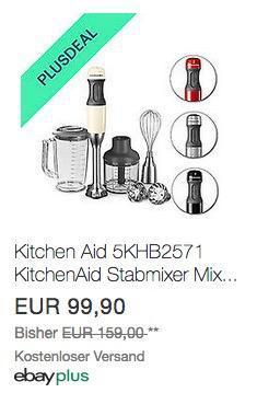 Kitchen Aid 5KHB2571 KitchenAid Stabmixer in verschiedenen Farben - jetzt 25% billiger