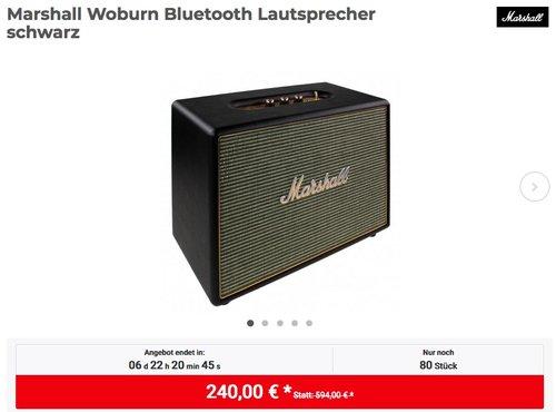 Marshall Woburn Bluetooth Lautsprecher in Schwarz - jetzt 14% billiger